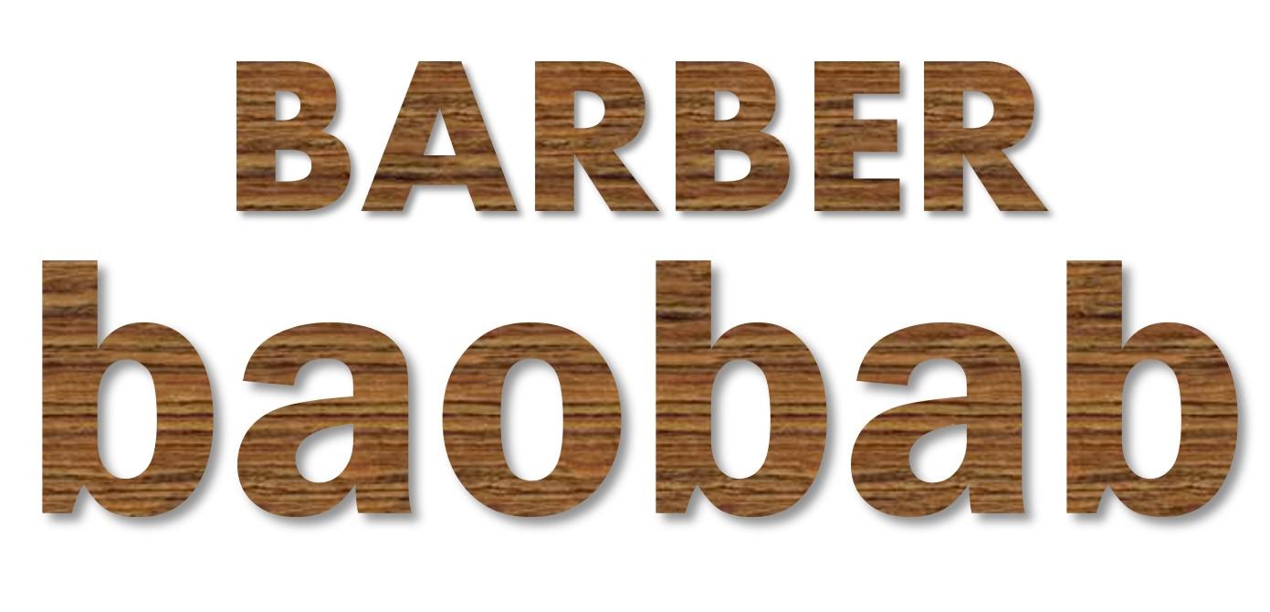 沖縄宮古島のサッカークラブ INDEPENDIENTE JAPAN MIYAKOJIMA のスポンサー企業 Barber baobab様のロゴ